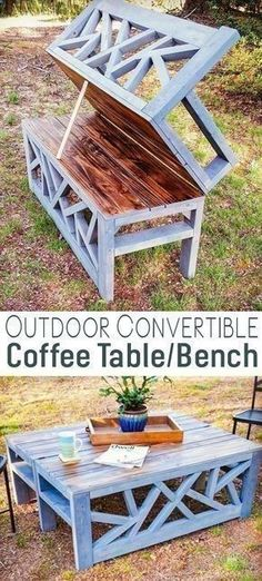 Plans of Woodworking Diy Projects - Plans of Woodworking Diy Projects - Outdoor Convertible Coffee Table Bench DIY Woodworking Plans #woodworkingbench #kidswoodworkingprojects #WoodworkingTools Get A Lifetime Of Project Ideas & Inspiration! Get A Lifetime Of Project Ideas & Inspiration!