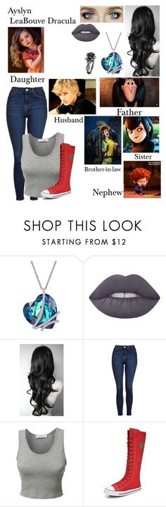 """Hotel Transylvania OC"" by nebulaprime on Polyvore featuring beauty, Lime Crime, Topshop, LE3NO and Sony"