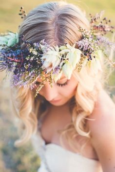 A Pastel Floral Crown | Kelsea K Photography on @weddingweekly via @aislesociety