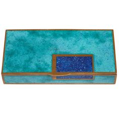 Art Deco Copper and Champlevé Enamel Box by Jean Goulden | From a unique collection of antique and modern boxes at http://www.1stdibs.com/furniture/more-furniture-collectibles/boxes/