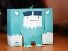 Little Blue Yeti Free Paper Toy Download - http://www.papercraftsquare.com/little-blue-yeti-free-paper-toy-download.html#Yeti