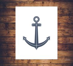 Navy Blue Anchor Print by truthandfable on Etsy, $2.99 #anchor #truthandfable