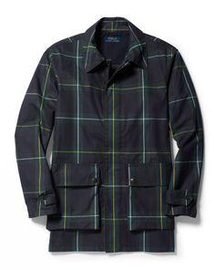 Plaid Waxed Cotton Jacket - Polo Ralph Lauren Lightweight & Quilted  - RalphLauren.com