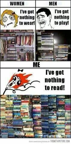 I've got nothing to read!!!