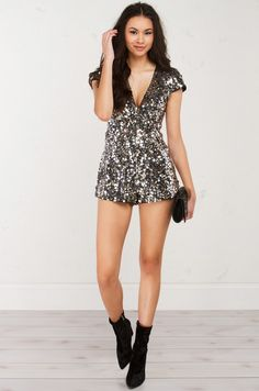 BUBBLY FOR THE LADY SEQUIN ROMPER | This is ridiculous and I would totally wear it.