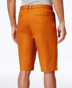 "Sean John Men's Big & Tall Long Belted 12.5"" Shorts - Brown 44T"