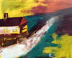"Saatchi Online Artist Paul Costin; Painting, ""Country lane"" #art August 2012, 30×24 cm, oil on canvas, palette knife technique"