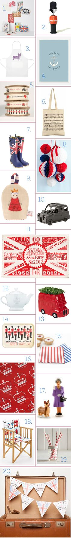 #Jubilee finds by Home Shopping Spy - love the paper #craft pom poms and the mini Queen & Corgi