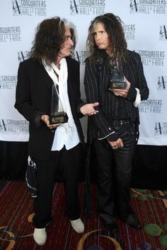 Congratulations to Steven Tyler & Joe Perry: Song Writers Hall Of Fame