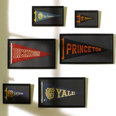 Custom college paper flags and banners
