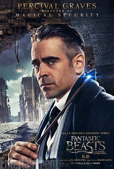 'Fantastic Beasts and Where to Find Them': See 9 Magical Character Posters | Colin Farrell as Percival Graves | EW.com