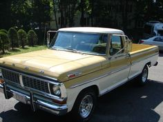 1970 Ford F-100 Pickup. paint it flat black and cut a couple of coils of the springs and this is my dream truck.