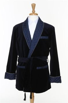 Blue smoking jacket