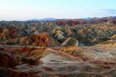 Zhangye Danxia Landform 張掖丹霞地貌 by Melinda ^..^, via Flickr