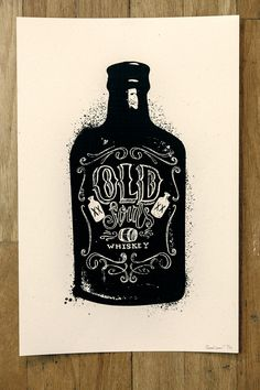 Bottle Prints by Conrad Garner, via Behance