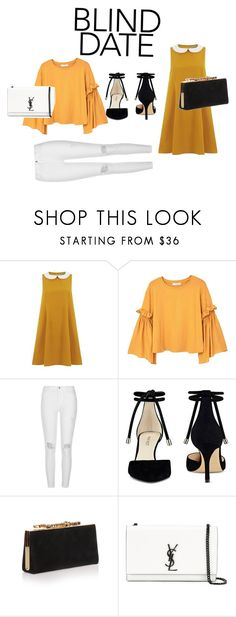 """Blind date"" by maria-ines-dias on Polyvore featuring MANGO, River Island, Nine West, Jimmy Choo and Yves Saint Laurent"