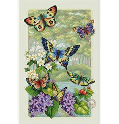 Butterfly Cross Stitch, Cross Stitch Bird, Cross Stitch Animals, Cross Stitch Flowers, Cross Stitch Charts, Counted Cross Stitch Patterns, Cross Stitch Designs, Cross Stitching, Blackwork Embroidery