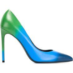 Saint Laurent Paris Pumps (21 555 UAH) via Polyvore featuring shoes, pumps, blue, yves saint laurent pumps, stilettos shoes, pointed toe stilettos, yves saint laurent shoes и high heels stilettos