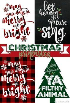 65+ FREE Holiday Printables!! Plaid Christmas Printables, Christmas Printables via House of Hargrove