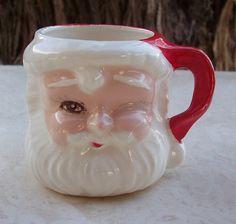 Vintage Mid Century Santa Claus Mug by nenafayesattic on Etsy, $4.00