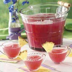Pink Rhubarb Punch Recipe