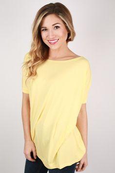 PIKO Short Sleeve Tee in Pastel Yellow