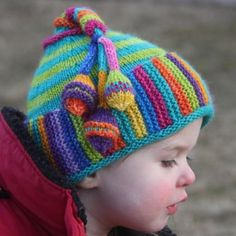 Colour Me Happy Hat By Lucy Neatby Pattern Available From ; color me happy hat von lucy neatby pattern erhältlich bei ; colour me happy hat par lucy neatby pattern disponible à partir de Baby Hat Knitting Patterns Free, Baby Hats Knitting, Knitting Kits, Crochet Baby Hats, Knitting For Kids, Loom Knitting, Knitting Projects, Knitted Hat Patterns, Knitted Hats Kids