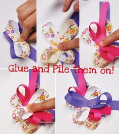 hair bow tutorial. I can finally try to make these.