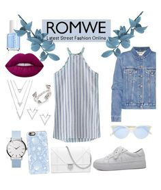 """""""Romwe"""" by nury-sg on Polyvore featuring Acne Studios, Garrett Leight, Casetify, Nadri, Vita Fede, Lime Crime and Essie"""