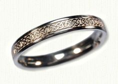 Celtic Narrow Murphy Knot Wedding Band-All Widths & Metal Available