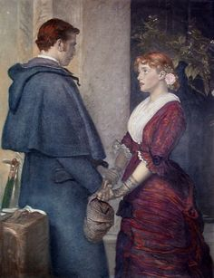 John Everett Millais (English Pre-Raphaelite , - Yes John Everett Millais, Painter Artist, Artist Art, Pre Raphaelite Brotherhood, Art Of Love, Romantic Scenes, Vintage Romance, Victorian Art, Couple Art