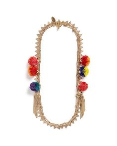 Venna | Multicolor Glass Pearl Star Tassel Charm Mixed Chain Necklace | Lyst