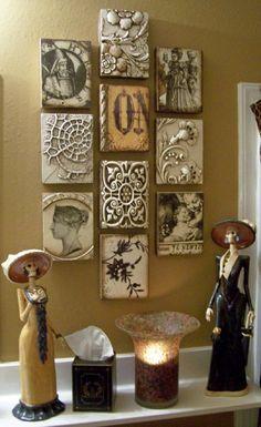 Old bathroom display-Sid Dickens Memory Blocks