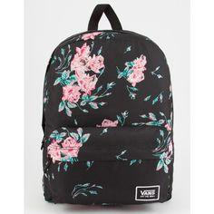 Vans Realm Backpack ($38) ❤ liked on Polyvore featuring bags, backpacks, daypack bag, vans backpacks, polyester backpack, backpack bags and rucksack bags