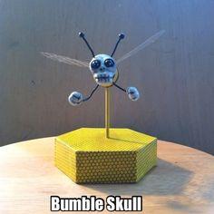 Bumble Skull is bumblin' Rotating animated gif of the Bumble Skull