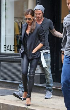 victoria beckham- leather leggings