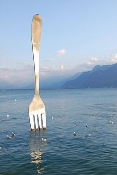 Eating with a large fork will make you eat less. It is a good way to lose some weight.