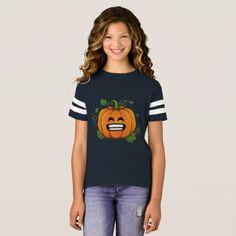 Pumpkin Big Smile Emoji Thanksgiving Halloween T-Shirt - thanksgiving tshirts custom unique happy thanksgiving holiday celebrate