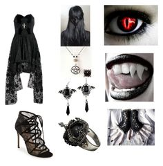 """""""Untitled #103"""" by alexysramirez ❤ liked on Polyvore featuring Pour La Victoire and Femme Metale Jewelry"""
