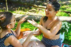 Roupa pra curtir o verão! Regata + Short - Top + Calça (hot pant) #swimsuit #roupaprabanho #slowfashion