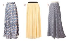 Maxi Skirts: Perfect for a banana or apple shaped body