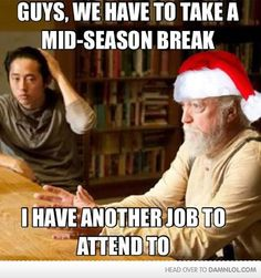 And now I'm not mad about the break in the Walking Dead season!