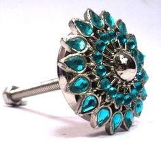 FANCY BLUE DIAMOND KNOB by Modelli