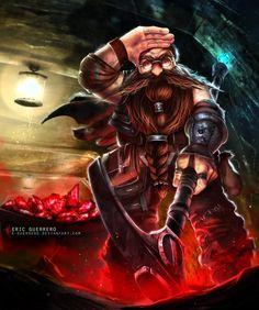 Dwarf mine-worker by e-guerrero
