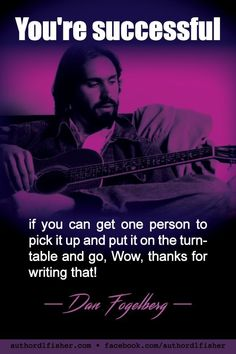 Dan Fogelberg was a singer-songwriter and multi-instrumentalist. He died at age 56 in 2007. #DanFogelberg #SongwritingInspiration #writing #success