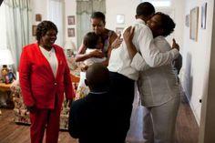 President Barak Obama With 1st Lady Michelle Obama....
