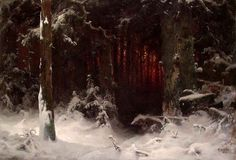 Ludvig Munthe Forest Interior, 1870