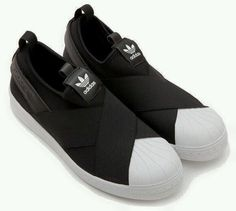 One Pair of Addidas Superstar Slip-ons