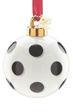 Vánoční ozdoba * bílé sklo s černými puntíky.