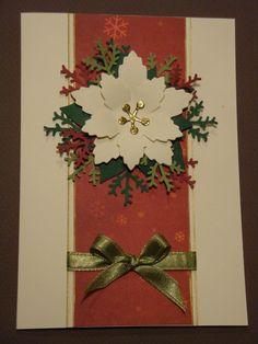 (Made by Susanne Elfrom Nguyen) Kort med julestjerne